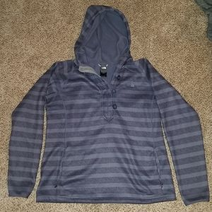 North face striped hoodie